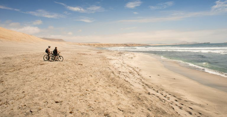 E-bikes at Paracas National Reserve